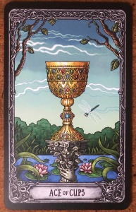 Ace of Cups - Dark Mansion Tarot