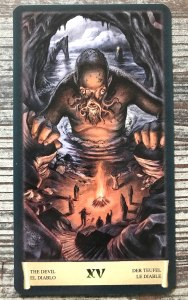 Devil Card - Dark Grimoire Tarot