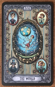 World Card -  Dark Mansion Tarot