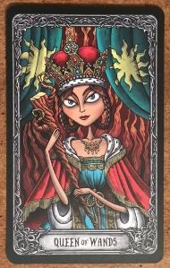 Queen of Wands - Dark Mansion Tarot