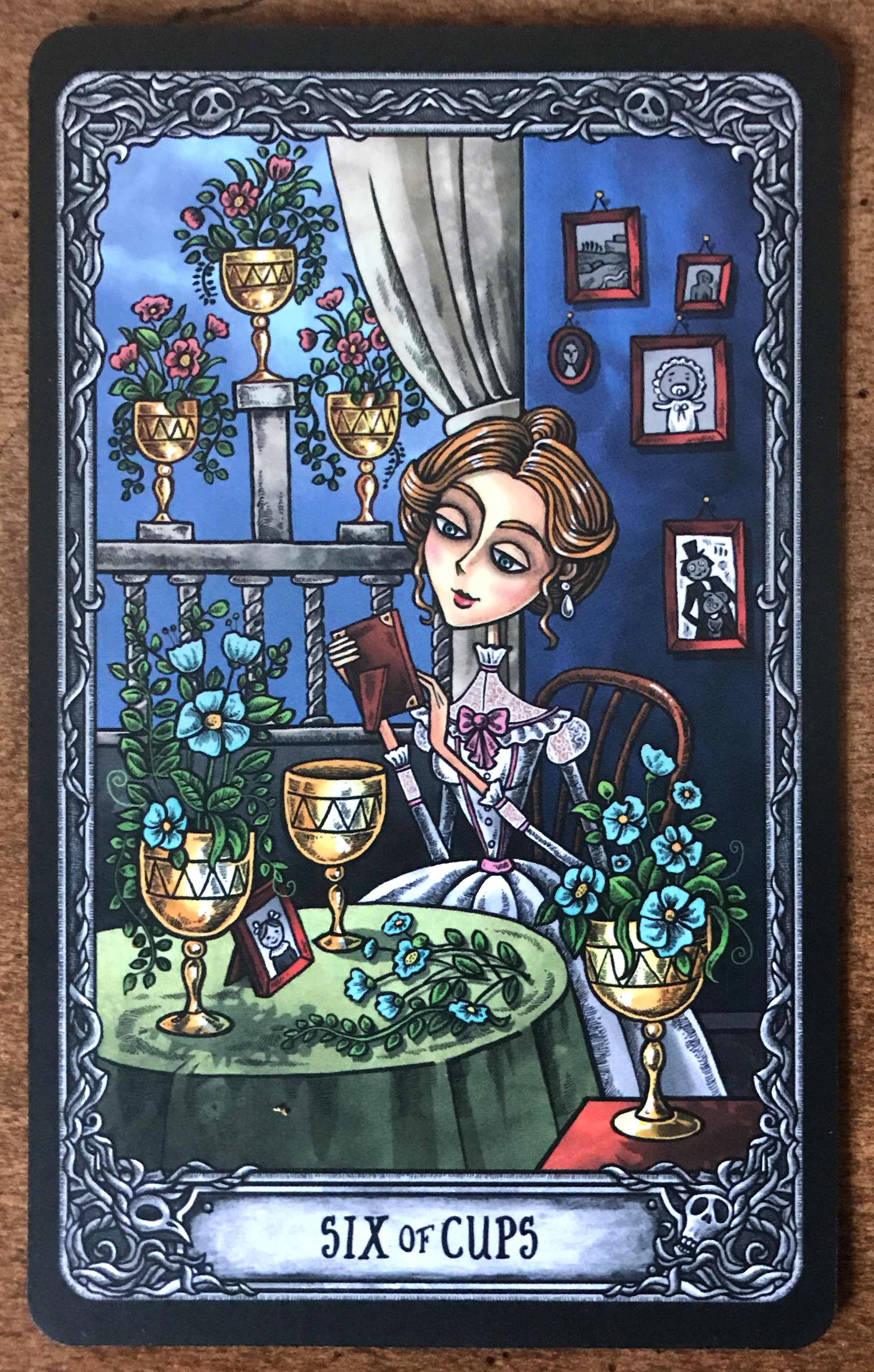 Six of Cups - Dark Mansion Tarot