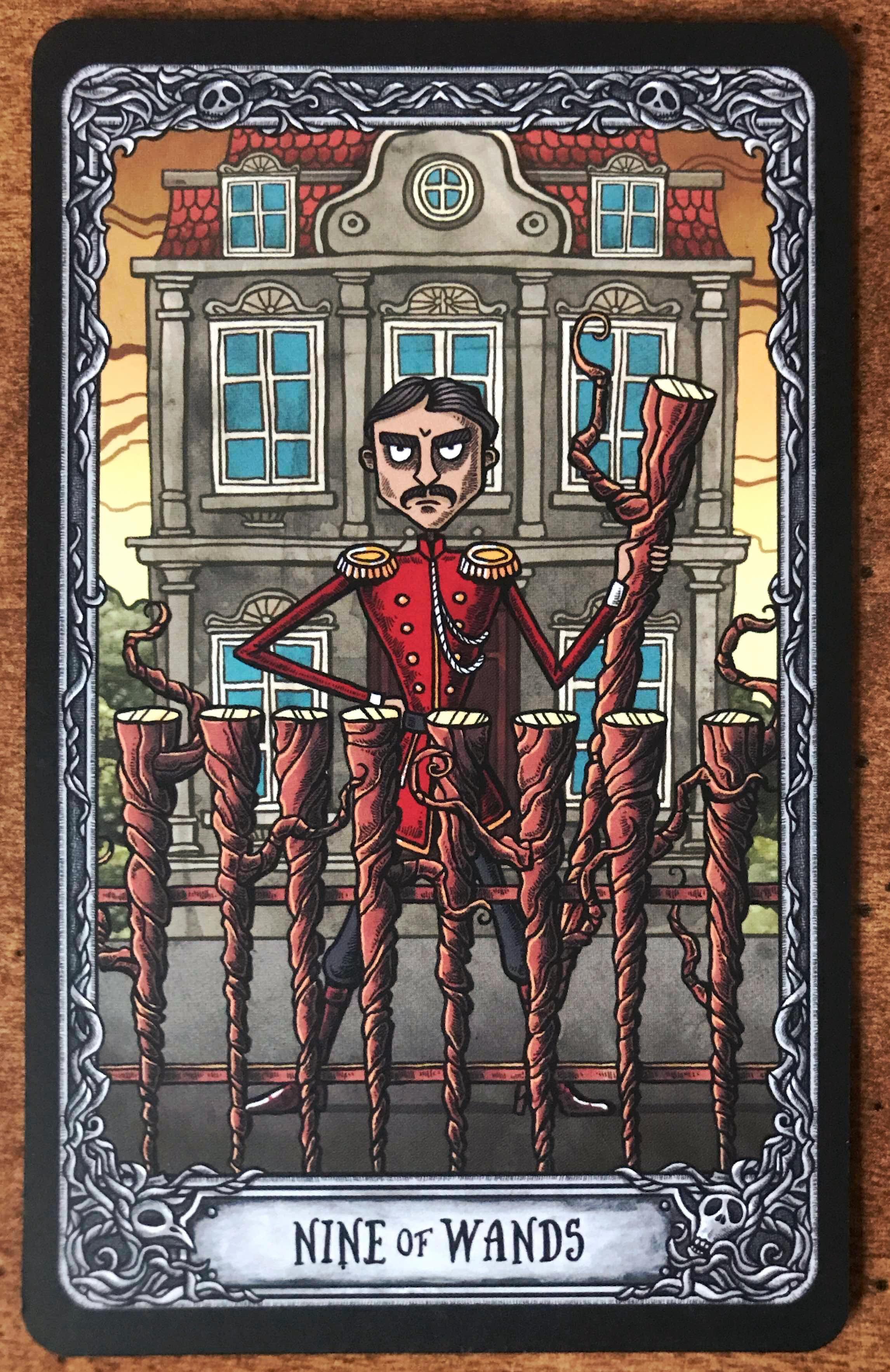 Nine of Wands - Dark Mansion Tarot