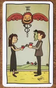 Two of Cups - Tarot of the Unknown