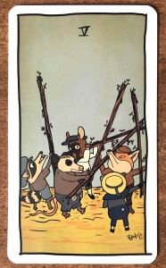 Five of Wands - Tarot of the Unknown