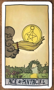 Ace of Pentacles - Tarot of the Unknown