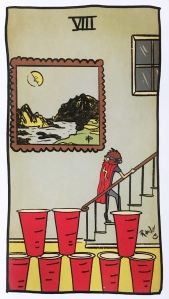 Eight of Cups - Tarot of the Unknown
