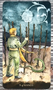 Nine of Wands - Tarot of the Little Prince