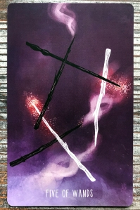 Five of Wands - Spacious Tarot