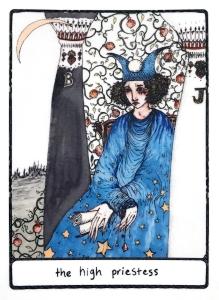 The High Priestess - Efflorescent Tarot (Color Edition)