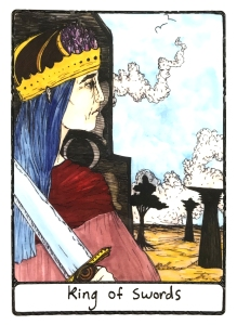 King of Swords - Efflorescent Tarot (Color Edition)