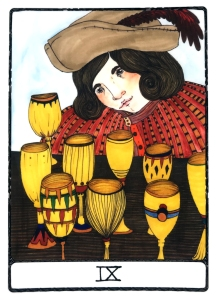 Nine of Cups - Efflorescent Tarot (Color Edition)