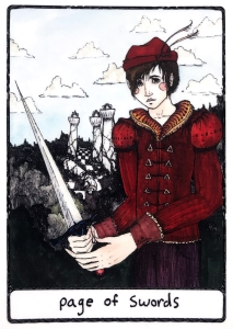 Page of Swords - Efflorescent Tarot (Color Edition)