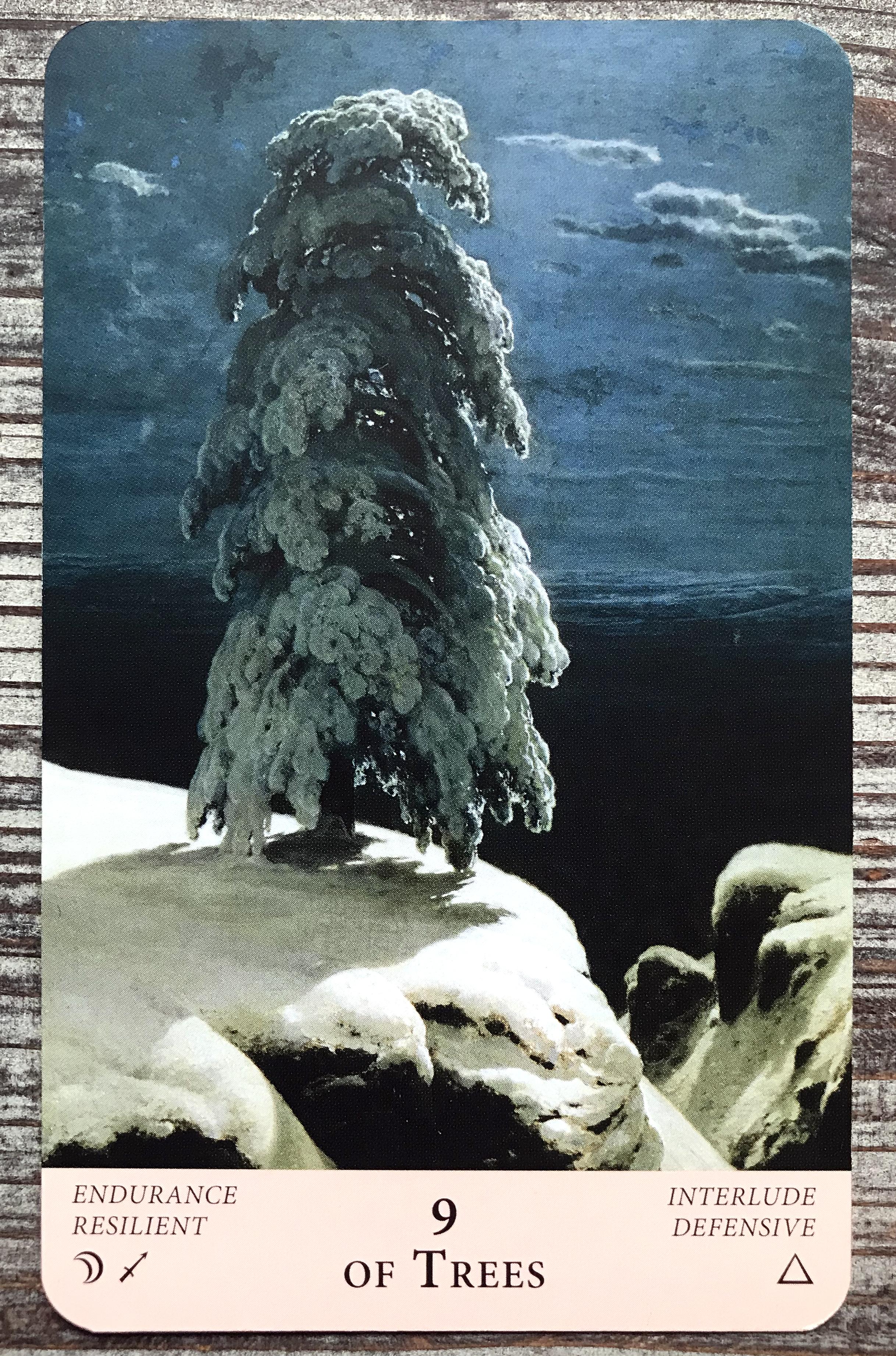 Nine of Trees - Majestic Earth Tarot