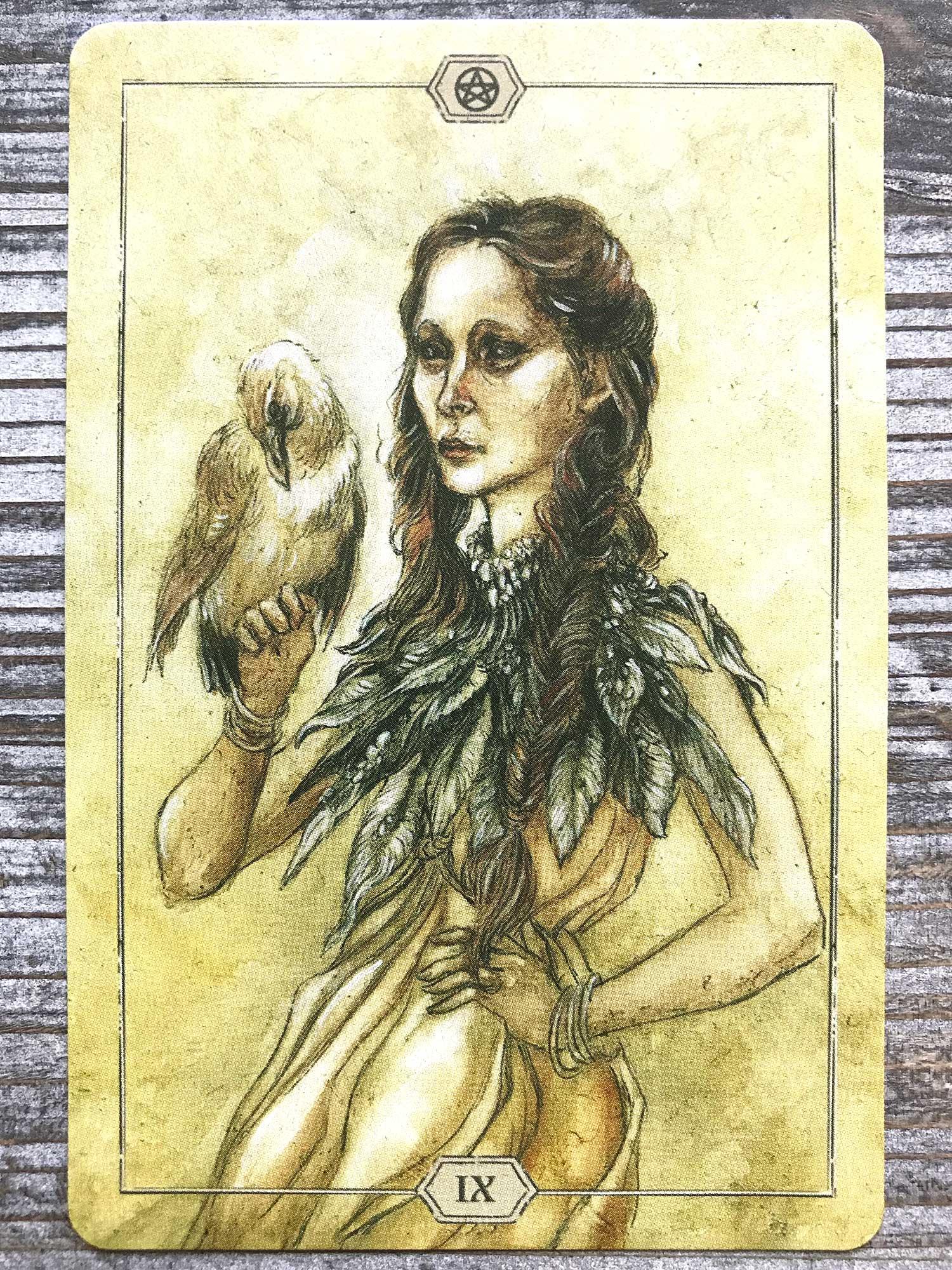 Nine of Pentacles - Hush Tarot