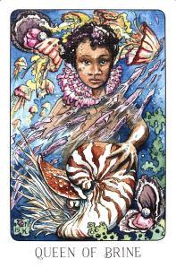 Queen of Brine - Queen of Cups - Stolen Child Tarot