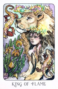 King of Flame - King of Wands - Stolen Child Tarot