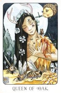 Queen of Oak - Queen of Pentacles - Stolen Child Tarot