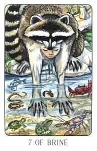 Seven of Brine - Seven of Cups - Stolen Child Tarot