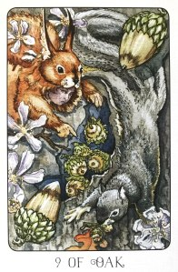 Nine of Oak - Nine of Pentacles - Stolen Child Tarot