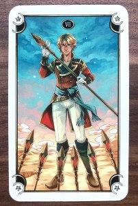 Mystical Manga Tarot - Seven of Wands