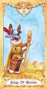 Maruco Animal Tarot - Page of Wands