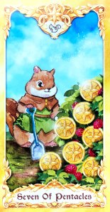 Maruco Animal Tarot - Seven of Pentacles