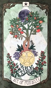 Forager's Daughter Tarot - Ace of Pentacles