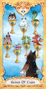 Maruco Animal Tarot - Seven of Cups