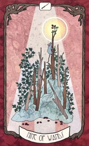 Forager's Daughter Tarot - Nine of Wands