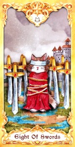 Maruco Animal Tarot - Eight of Swords