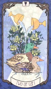 Forager's Daughter Tarot - Two of Cups