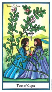 Herbal Tarot - Uva Ursi - Two of Cups