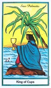 Herbal Tarot - Saw Palmetto - King of Cups