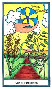 Herbal Tarot - Ace of Pentacles - Whole Grains