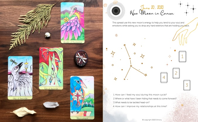 New Moon in Cancer 2020 Tarot Spread