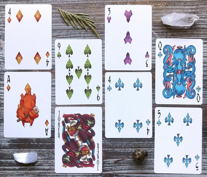 Colliding Crowns Fantasy Playing Cards
