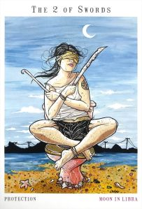Next World Tarot - Two of Swords