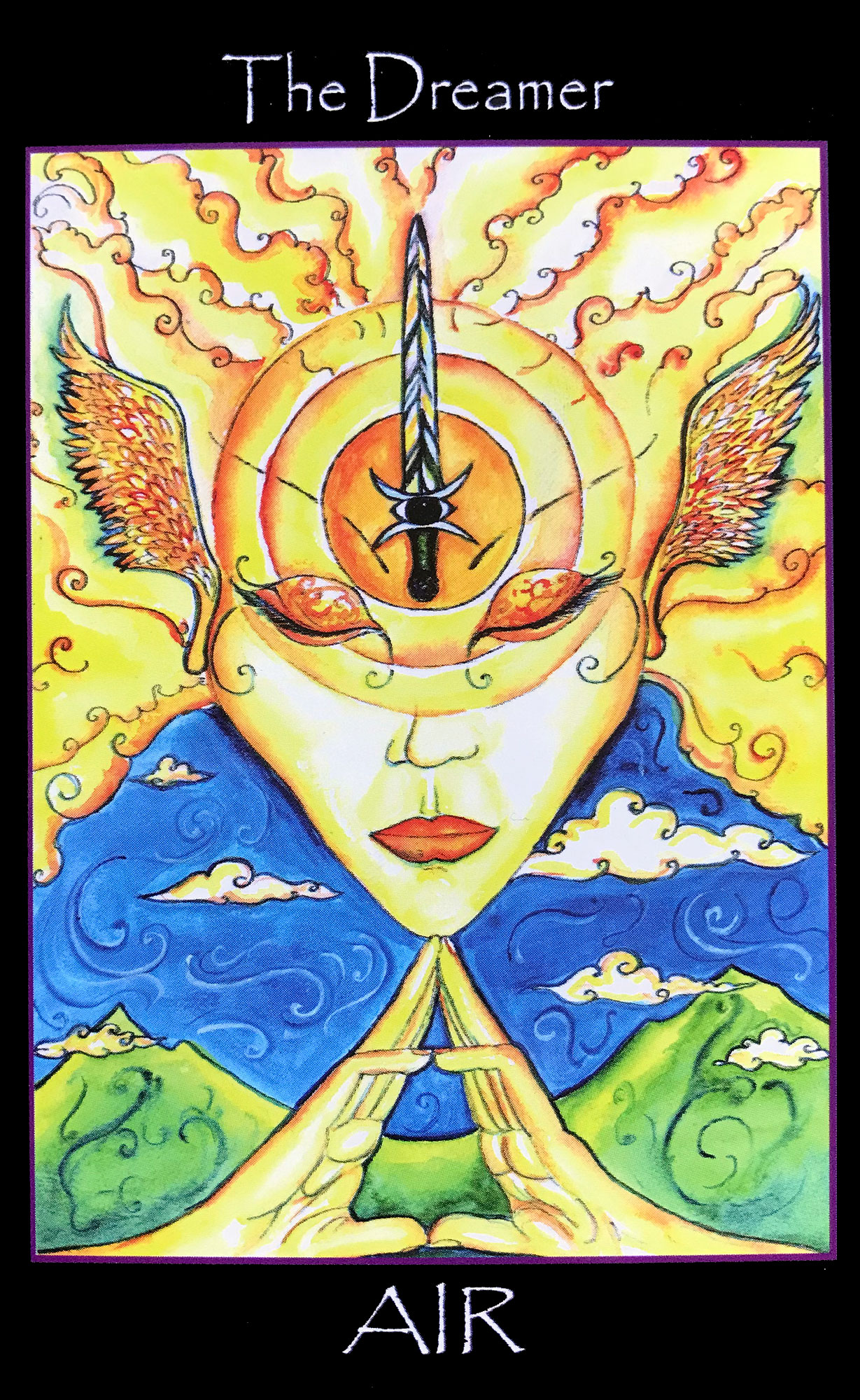 Tarot of the Sidhe - The Dreamer, Ace of Swords