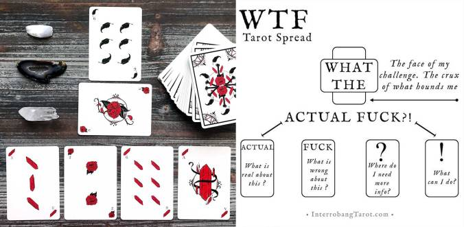 WTF Tarot Spread - Corvid Romantic Playing Cards