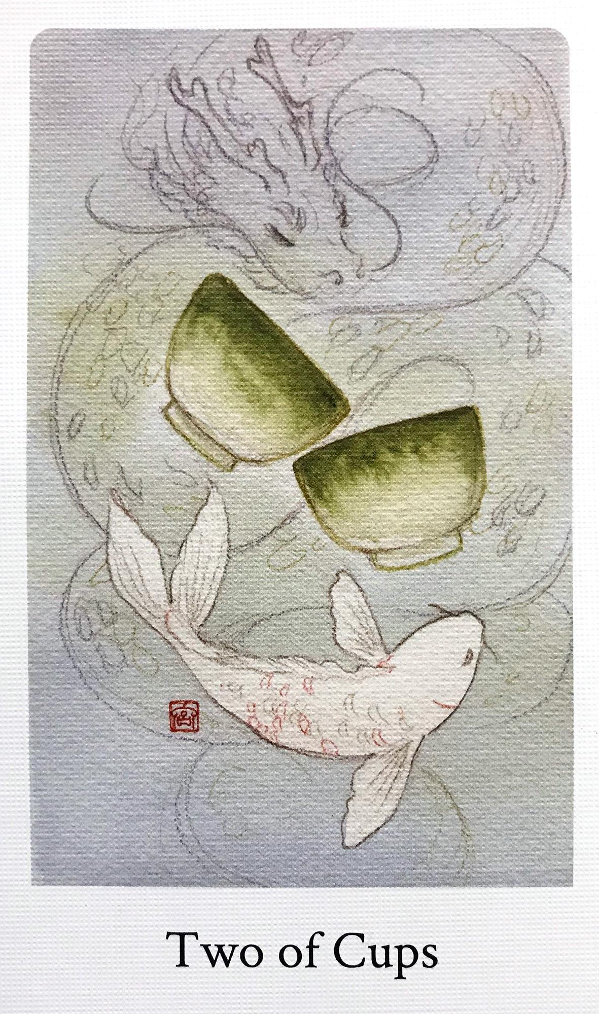 Botan Tarot - Two of Cups