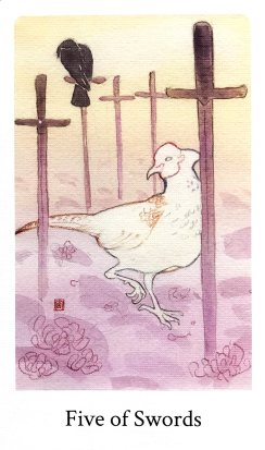 Botan Tarot - Five of Swords