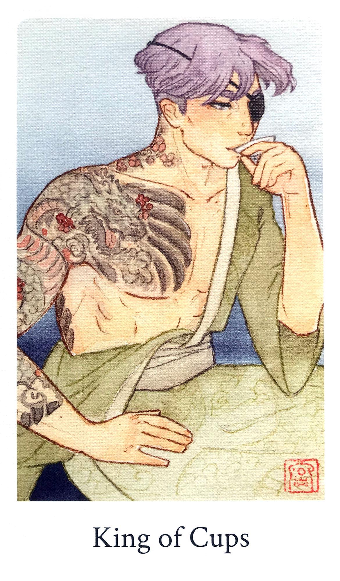 Botan Tarot - King of Cups