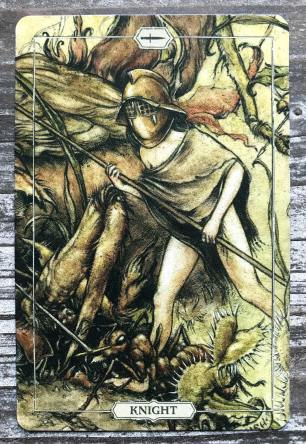 Hush Tarot - Knight of Swords