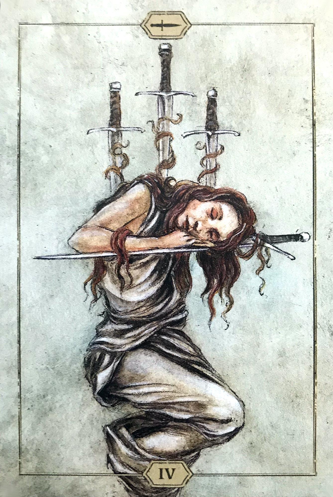 Hush Tarot - Four of Swords