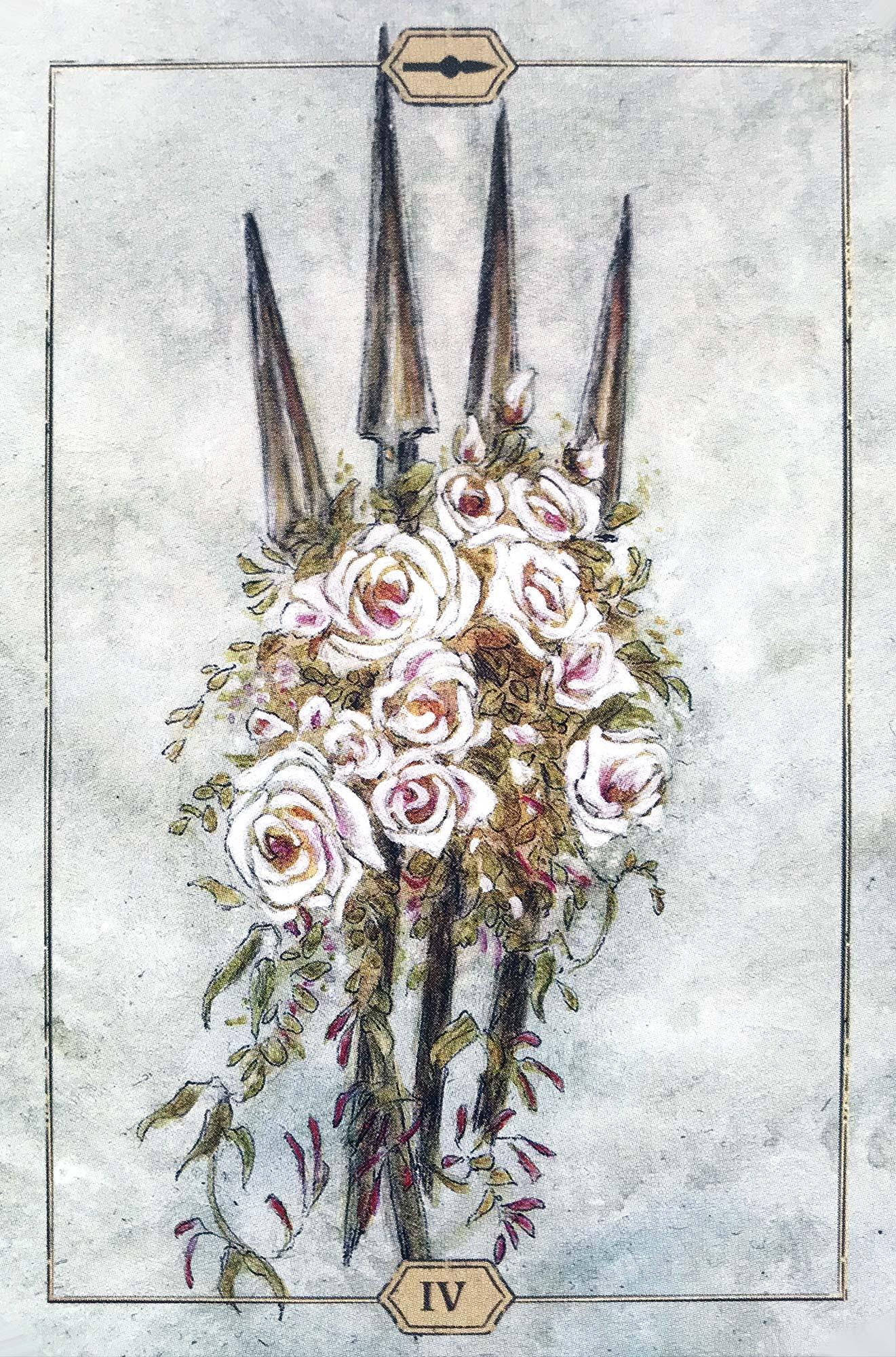 Hush Tarot - Four of Wands