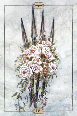 Hush Tarot - Four of Wands