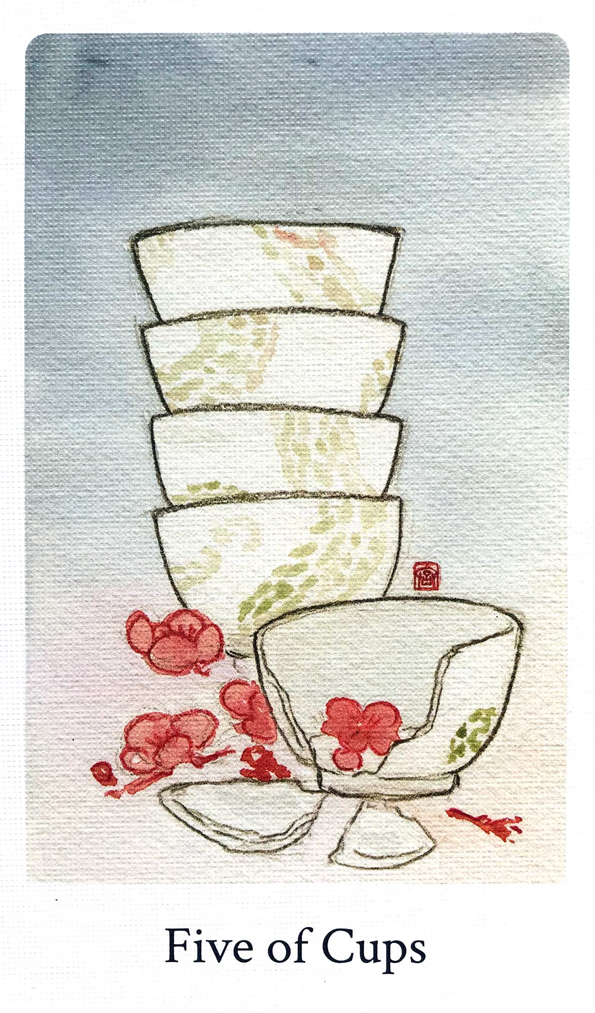 Botan Tarot - Five of Cups