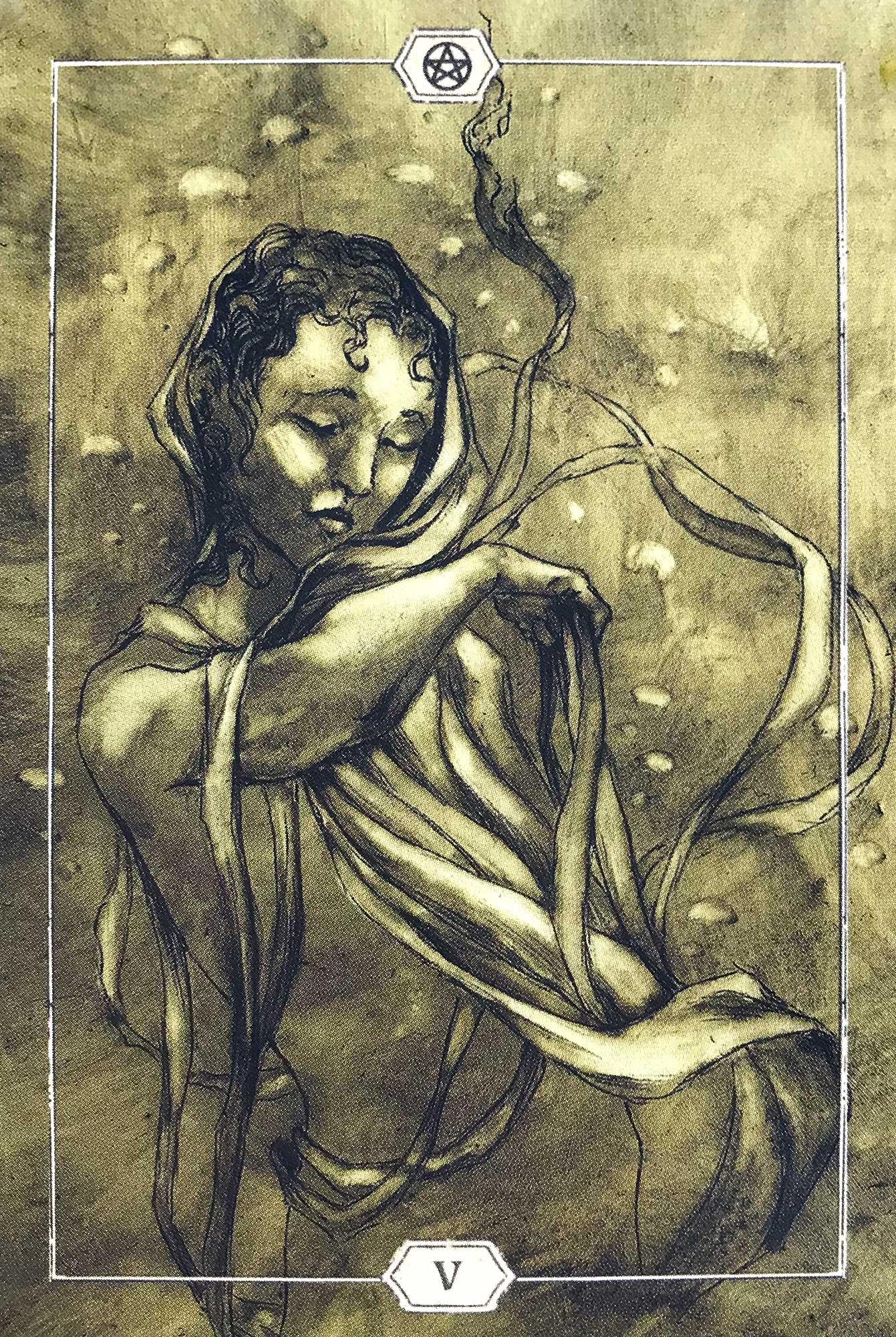 Hush Tarot - Five of Pentacles
