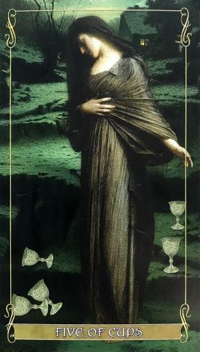 Madam Lydia Wilhelmina's Tarot - Five of Cups