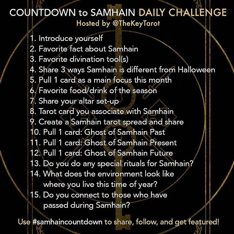 Countdown to Samhain #samhaincountdown